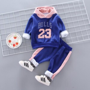 2-piece Fleece-lined Hoodie & Pants for Toddler Girl