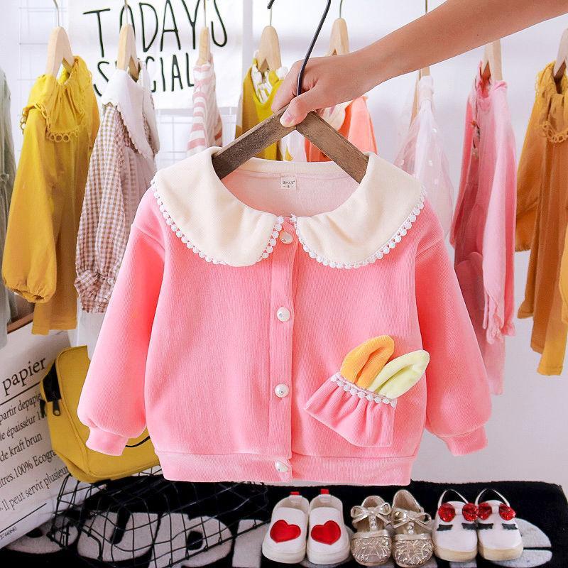 Rabbit Pattern Thick Coat for Toddler Girl