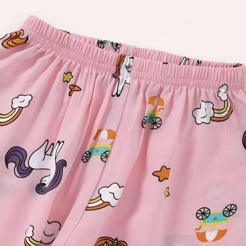 Animal Pattern Pajamas Sets for Toddler Girl