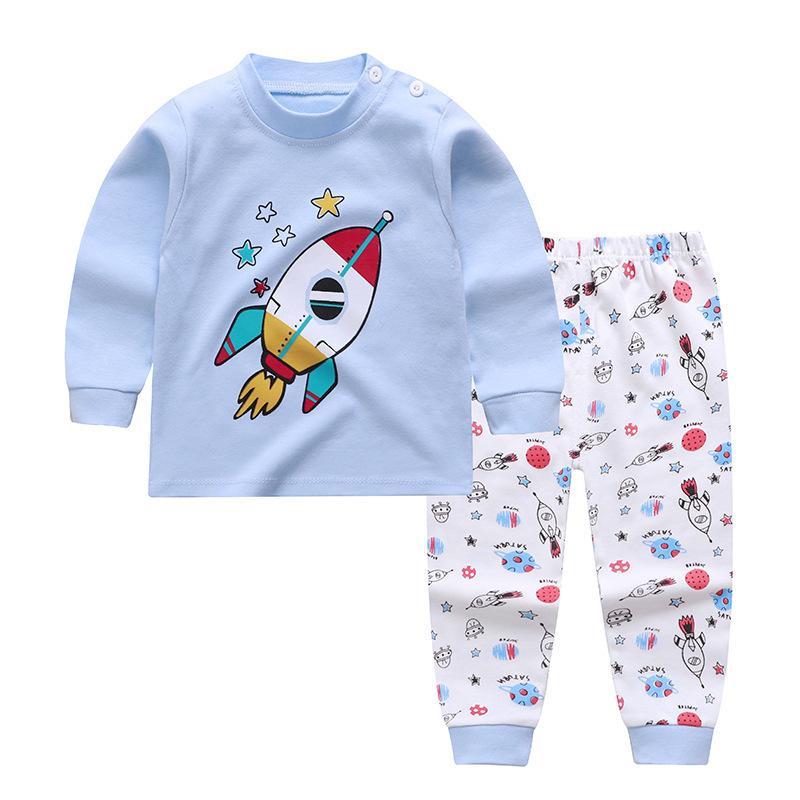 2-piece Vehicle Pattern Pajamas for Toddler Boy