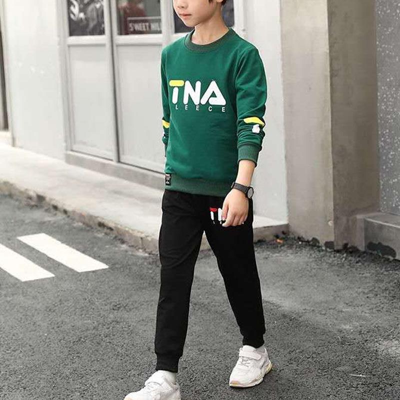 2-piece Letter Pattern Suit for Boy