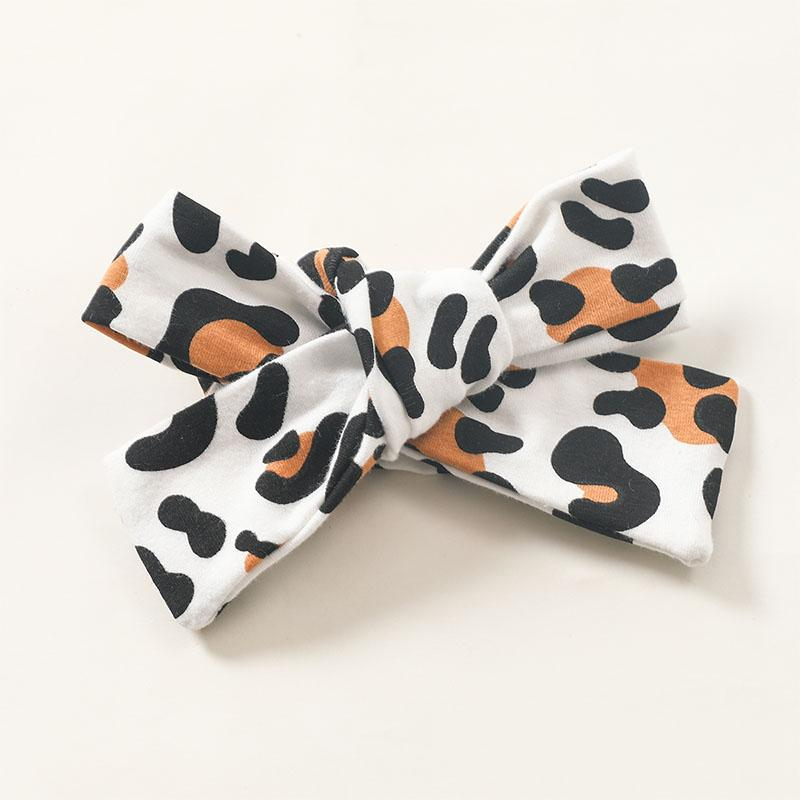 3-piece Headband & Leopard Pattern Pants & Romper for Baby Girl