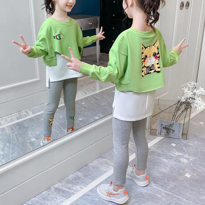 2-piece Animal Pattern Suit for Girl