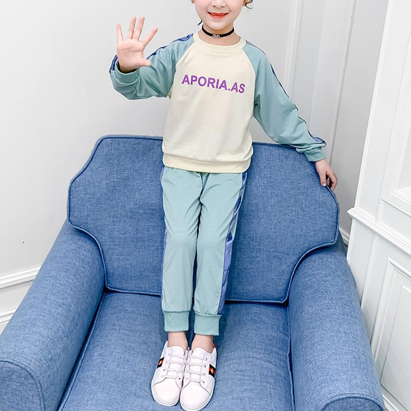2-piece Color-block Suit for Girl
