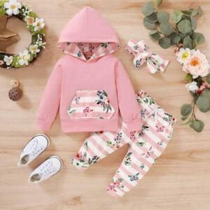 3-piece Headband & Sweatshirt & Pants for Baby Girl