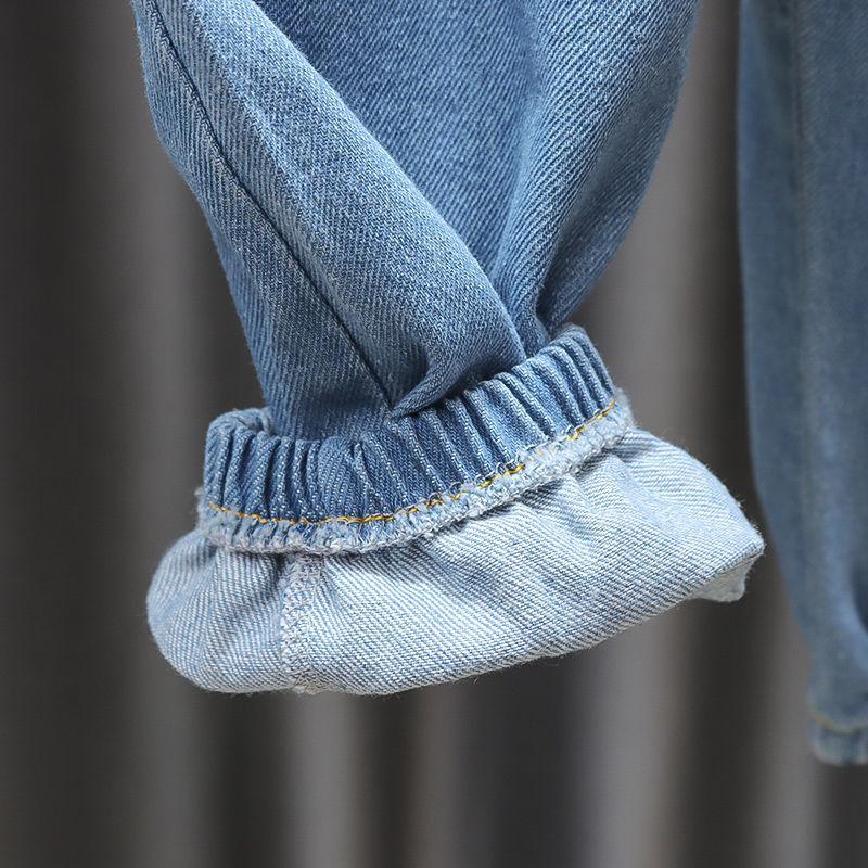 Mustache Pattern Jeans for Toddler Girl