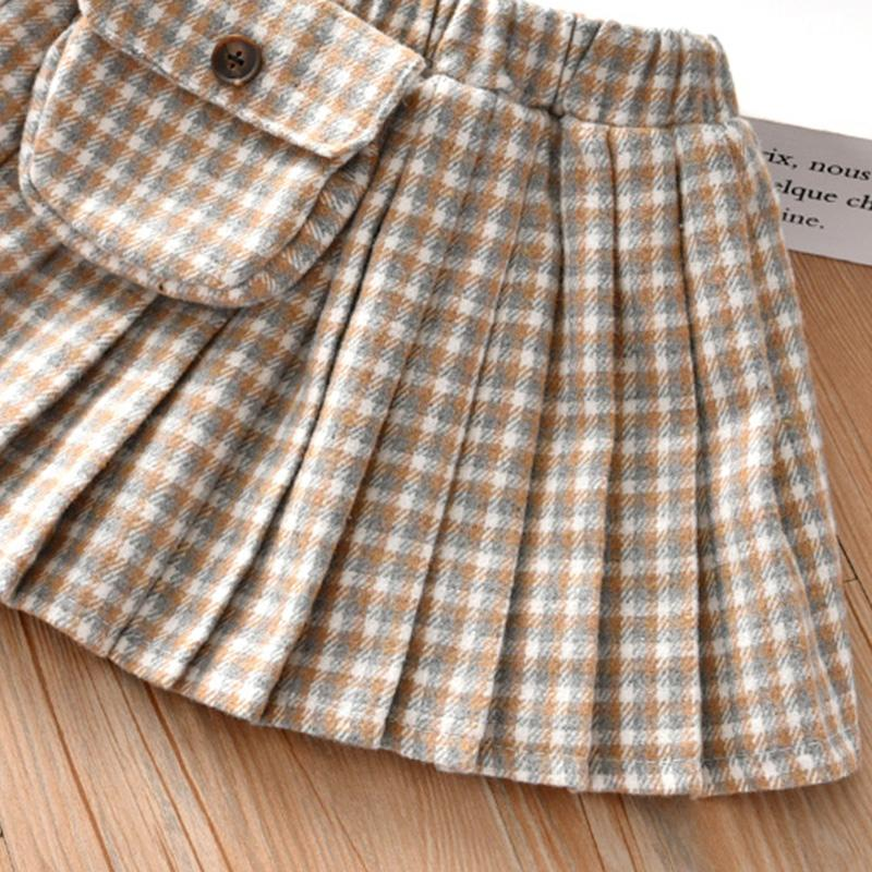 Plaid Pleated Skirts for Toddler Girl