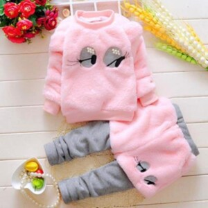 2-piece Fleece Suit for Toddler Girl