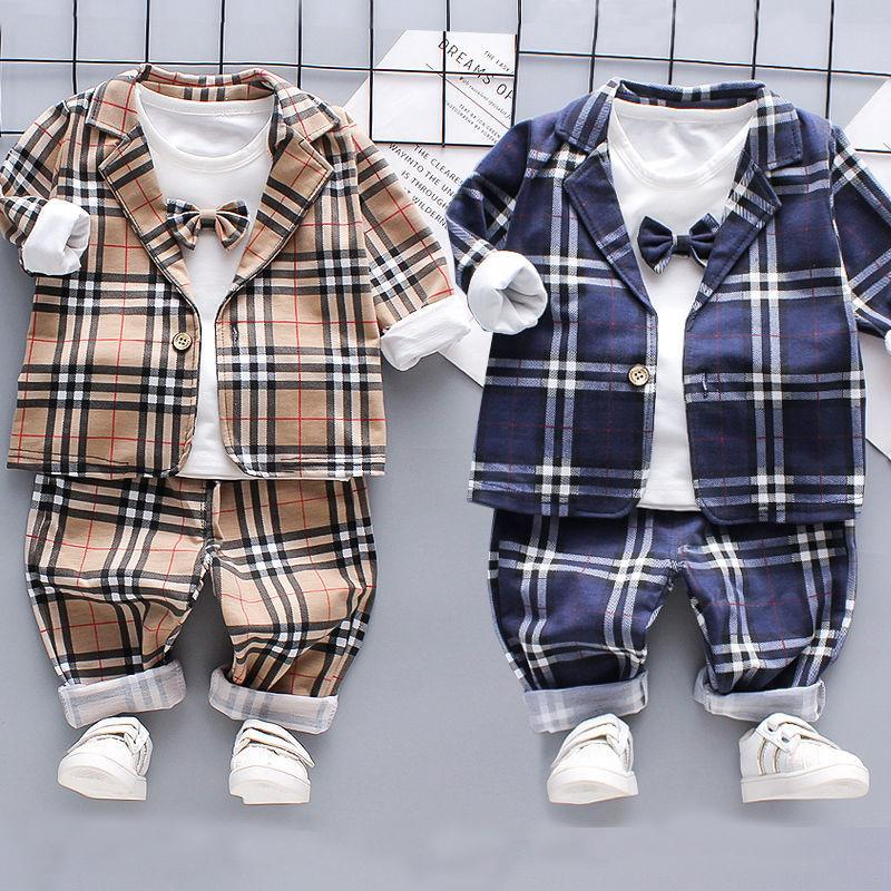 3-piece Coat & Shirt & Pants for Toddler Boy