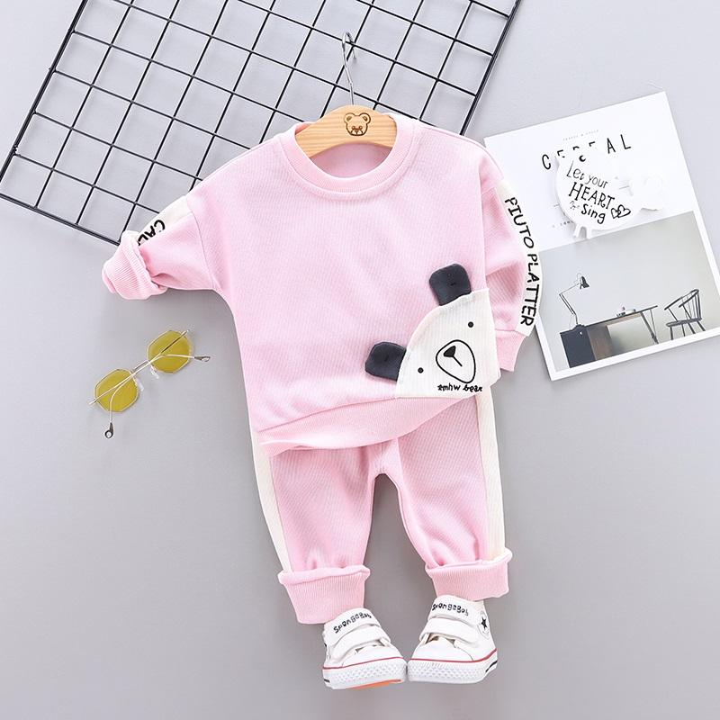 2-piece Bear Pattern Suit for Toddler Girl