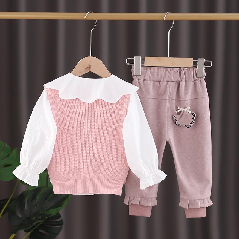 3-piece Vest & Shirt & Pants for Toddler Girl
