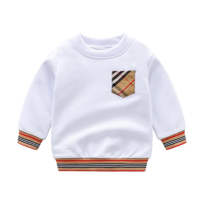 Plaid Pattern Sweatshirts for Toddler Boy