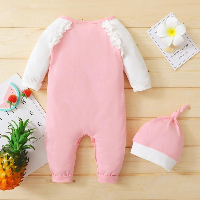 2-piece Ruffle Jumpsuit & Hat for Baby Girl