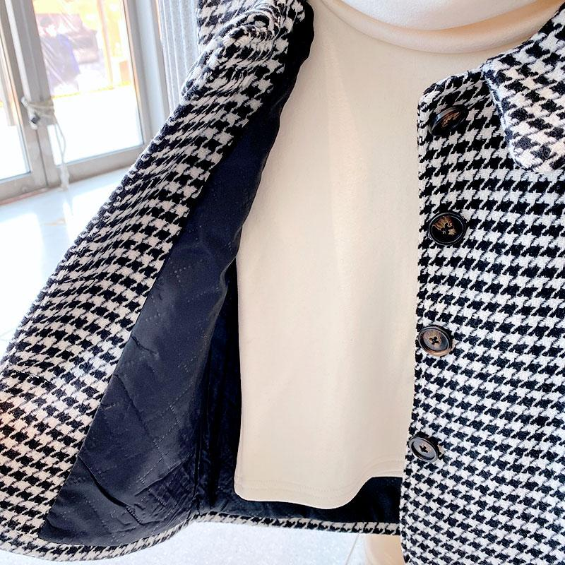 Houndstooth Duffle Coat for Toddler Girl