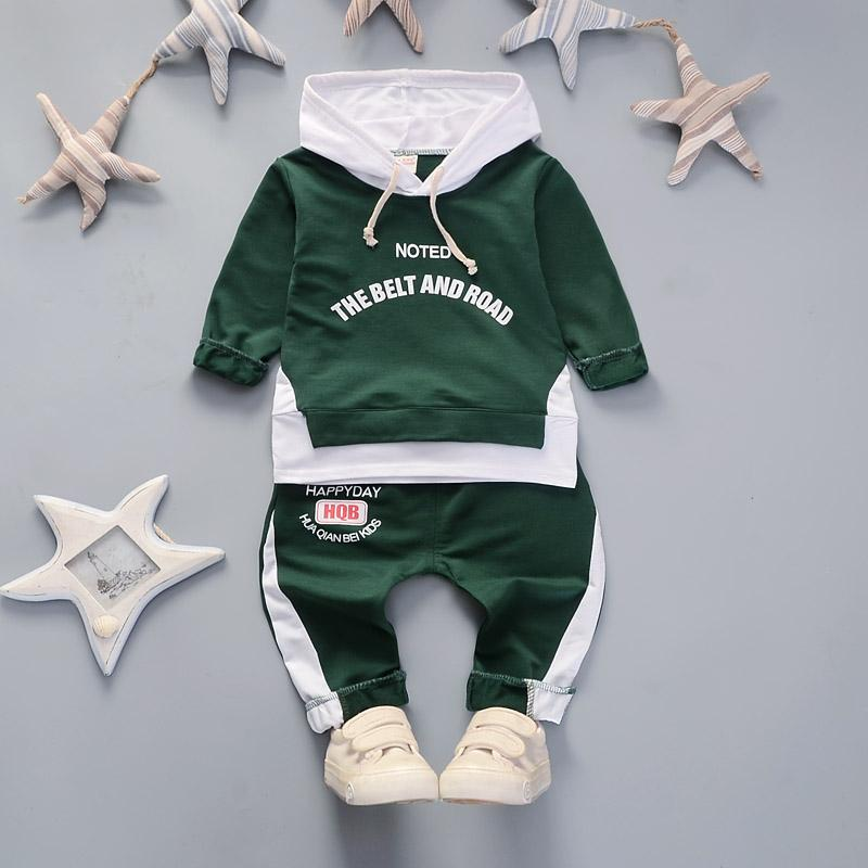 2-piece Letter Pattern Hoodie & Pants for Toddler Boy