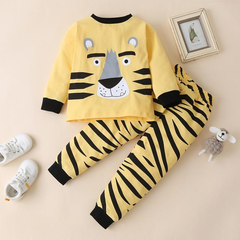 Cute Lion Pattern Long-sleeve Pajamas Set