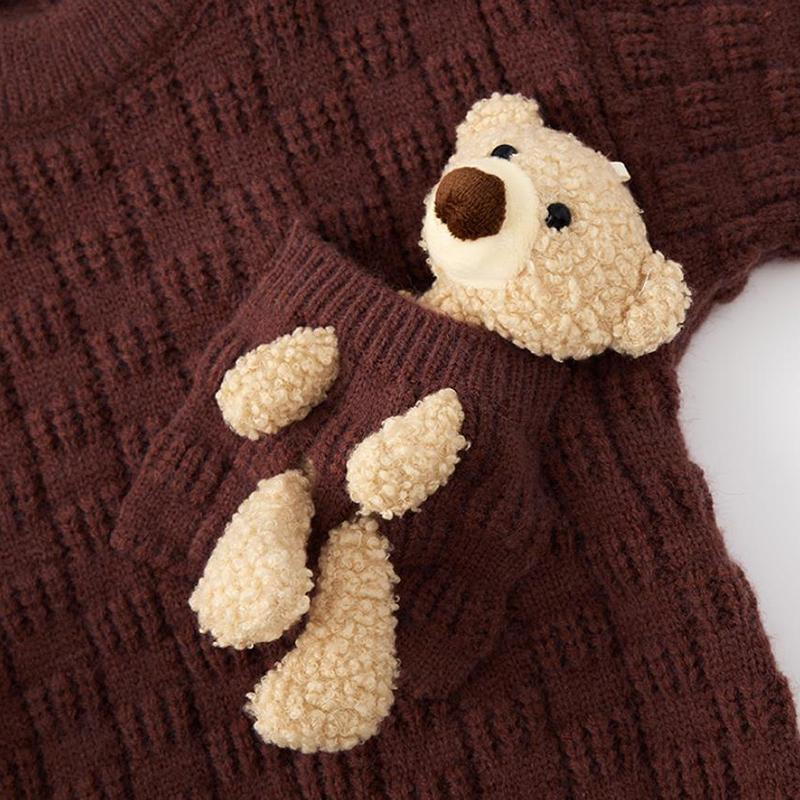 Bear Toy Sweater for Toddler Girl