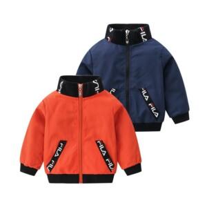 Letter Pattern Jacket for Toddler Boy