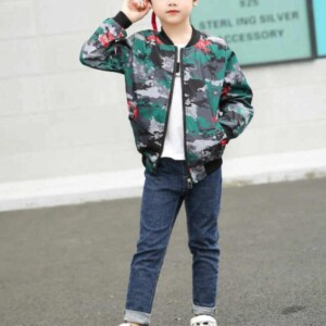 Camouflage Pattern Jacket for Boy