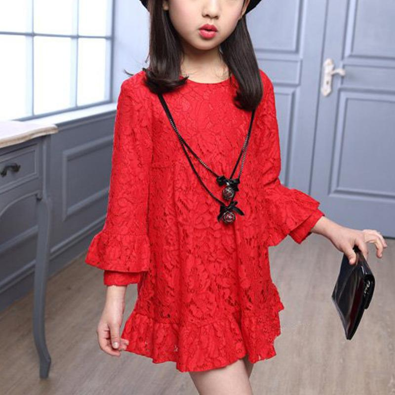 Ruffle Lace Dress for Girl