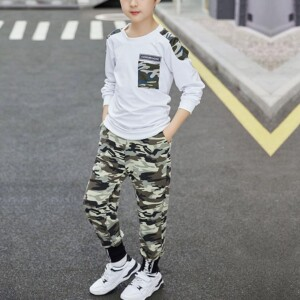 2-piece Camouflage Sweatshirts & Pants for Boy