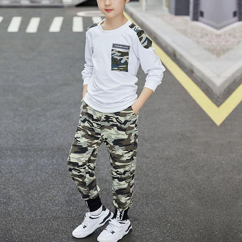 2-piece Camouflage Sweatshirts & Pants for Boy