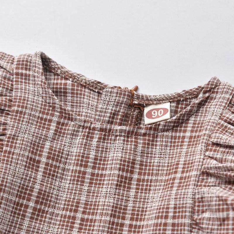 Ruffle Plaid Dress for Toddler Girl