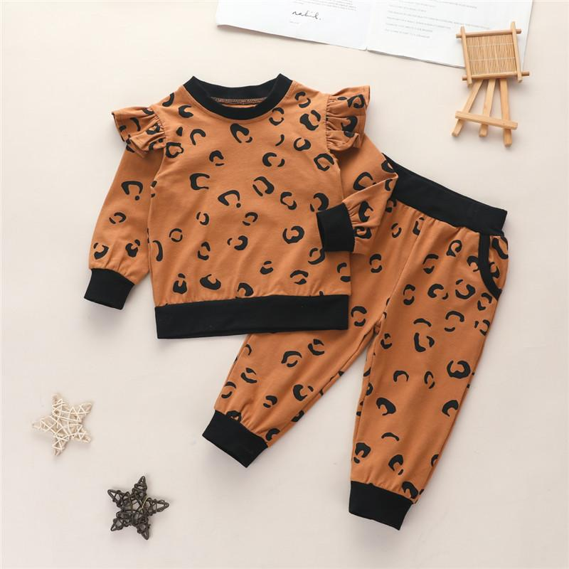 2-piece Leopard Suit for Toddler Girl