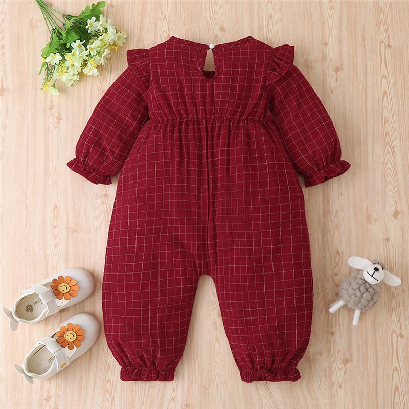Plaid Jumpsuit for Baby Girl