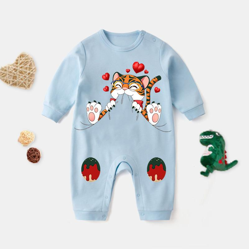 Cute Cat Pattern Jumpsuit for Baby