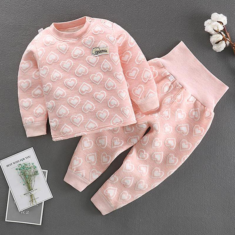 2-piece Heart-shaped Pattern Intimates Sets for Toddler Girl