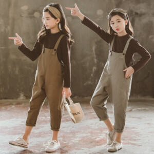 Kid girls fashion rompers two-piece