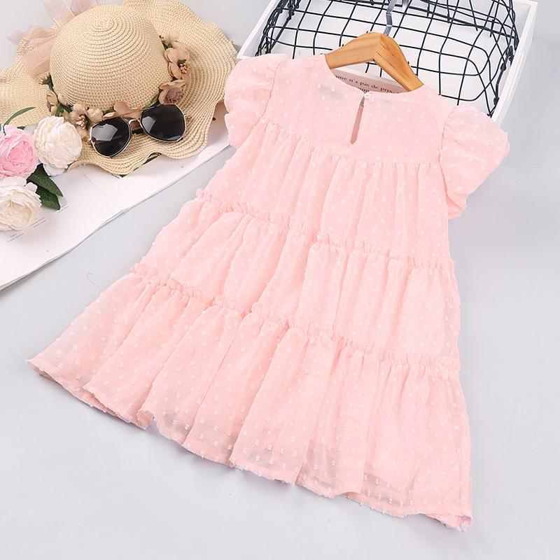 Toddler Girl Cute Summer Pink Sleeveless Thin Dress