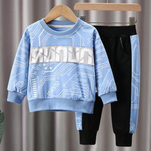 Toddler Boy Clothes Set 2pcs Sweatshirt & Pants