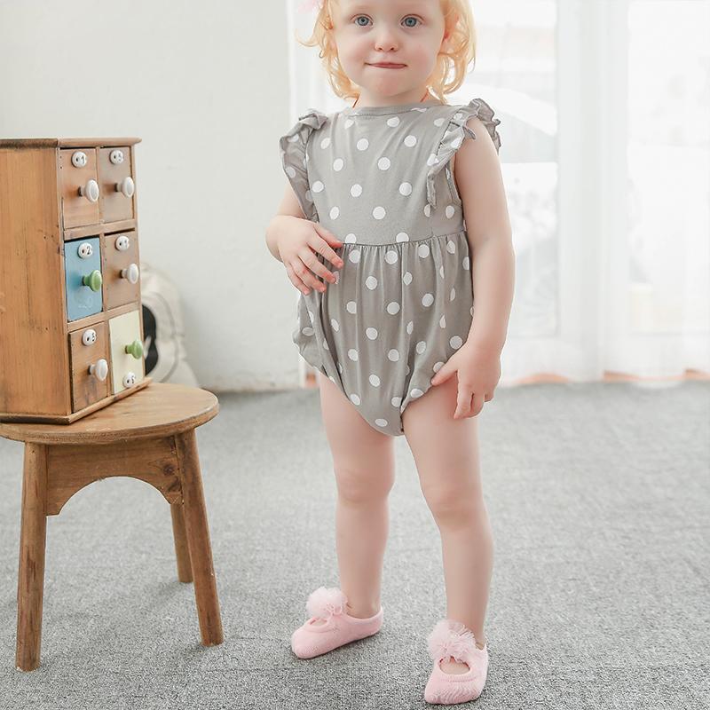 3-piece Cotton Bowknot Decor Antiskid Baby Socks