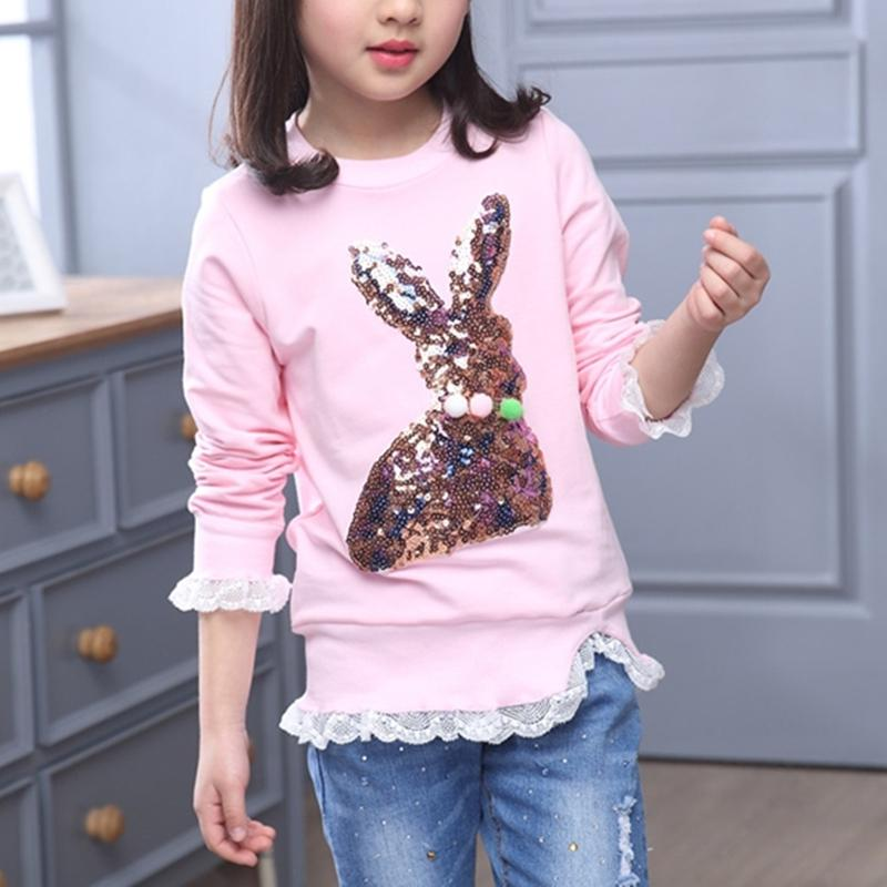 Girl Clothes Rabbit Pattern Sweatshirt