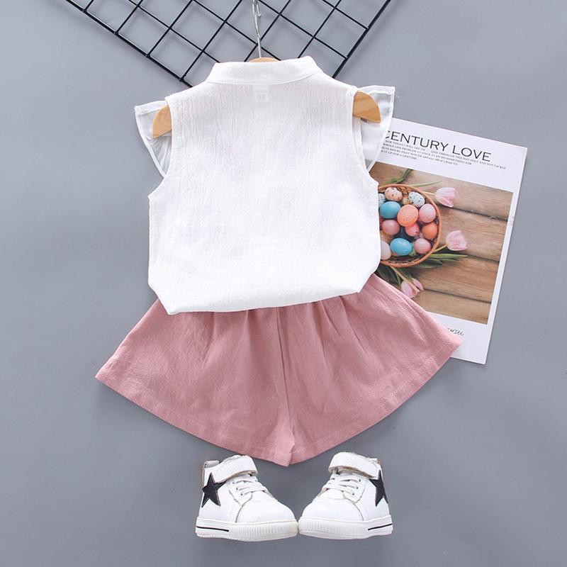 2pcs Sweet Floral Design Shirt and Pants