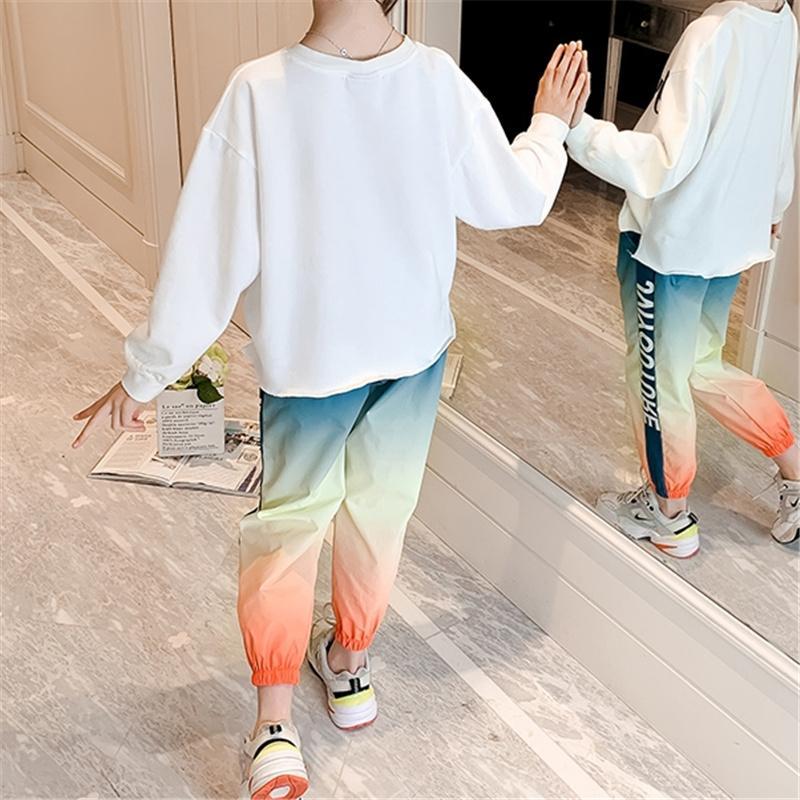 Girl Clothes Outfit Sweatshirt & Gradient Color Pants