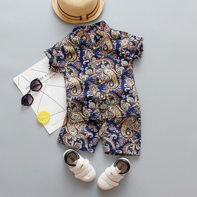 2-piece Floral Printed T-shirt & Shorts for Toddler Boy