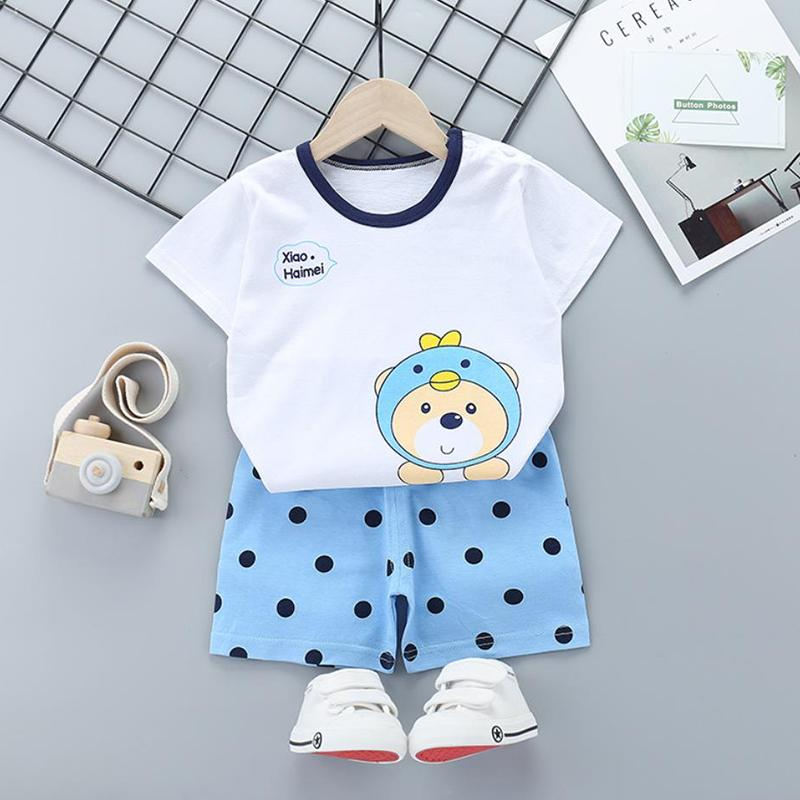 2pcs Cute Prints T-shirt and Pants