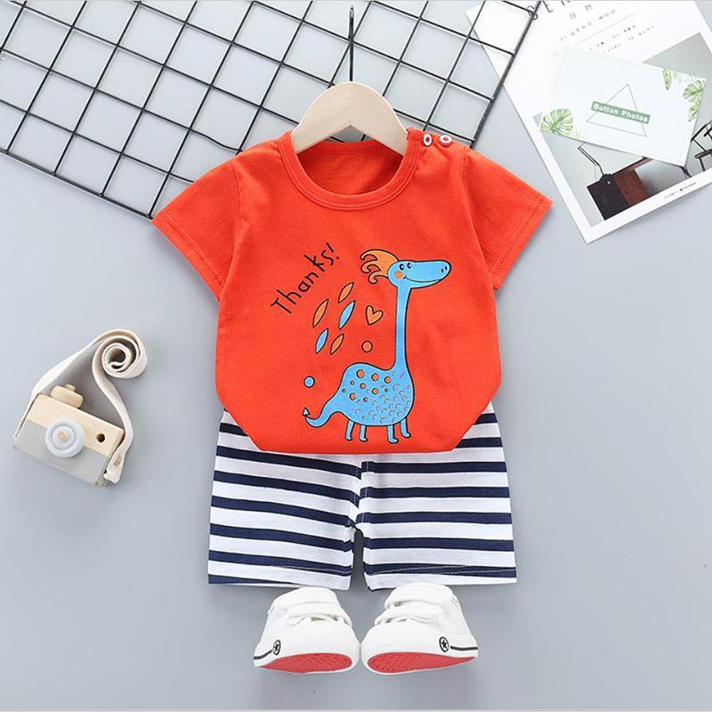 2pcs Cute Prints T-shirt and Pants No Shoes