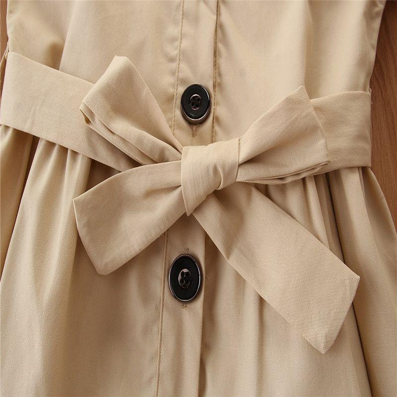 Solid Duffle Coat Trench for Toddler Girl