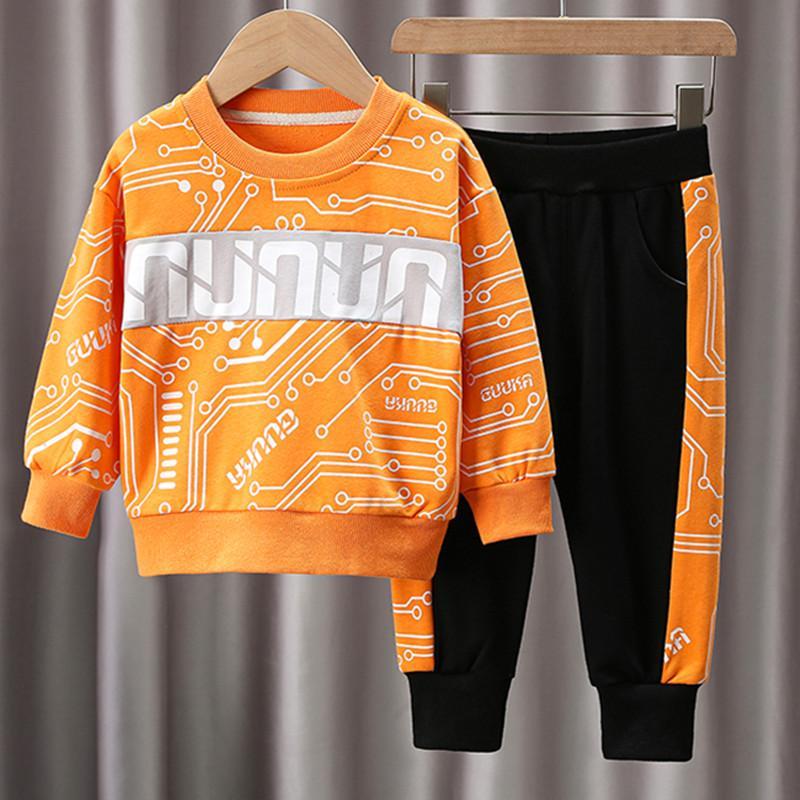 Toddler Boy Clothes Set 2pcs Sweatshirt & Pants