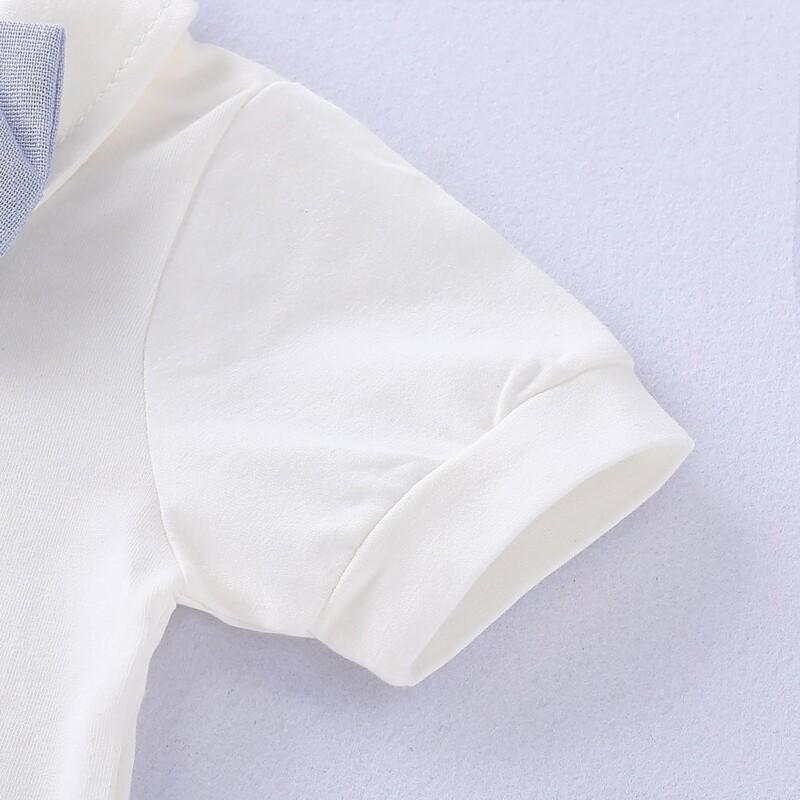 Gentleman Set Bow Bodysuit and Overalls Set