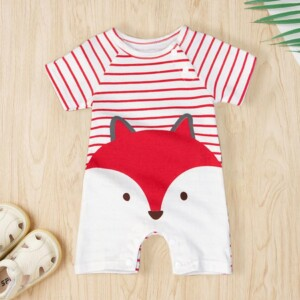 Fox Print Bodysuit for Baby
