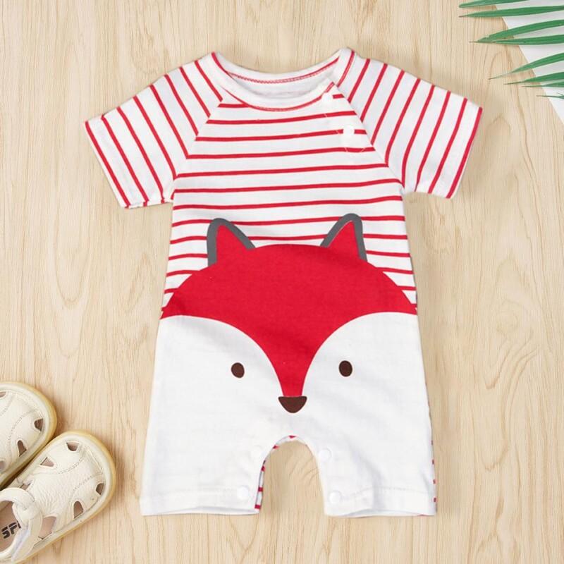 Fox Print Bodysuit for Baby