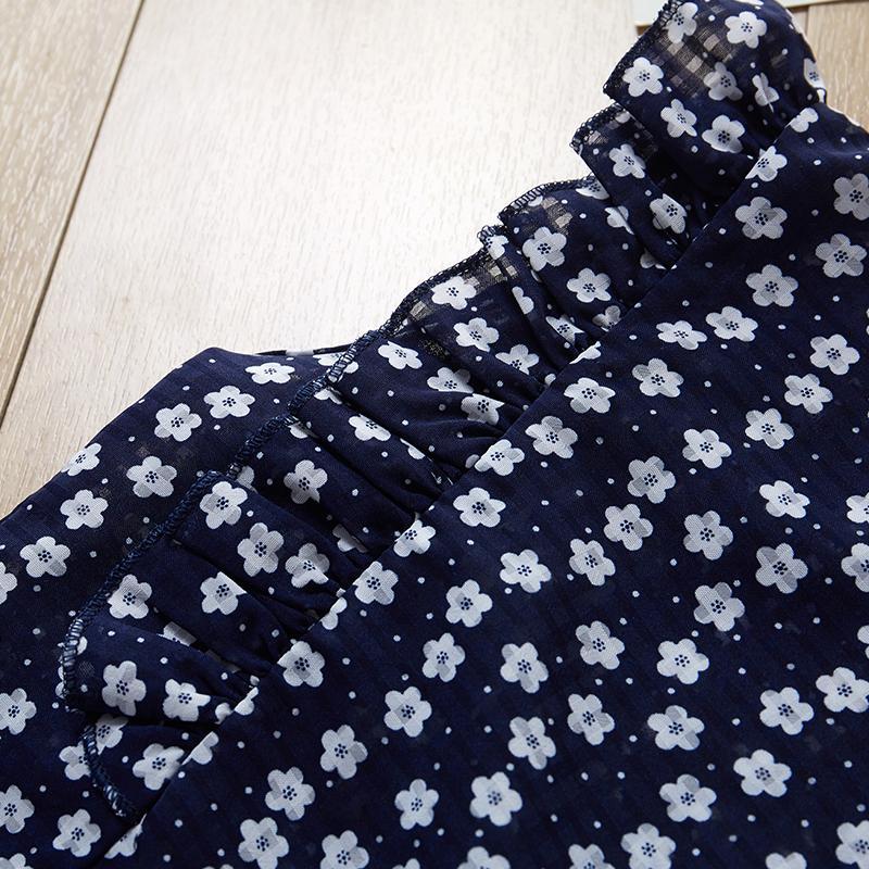 2-piece Floral Sleeveless Polka Dot Printed T-Shirt and Shorts Set