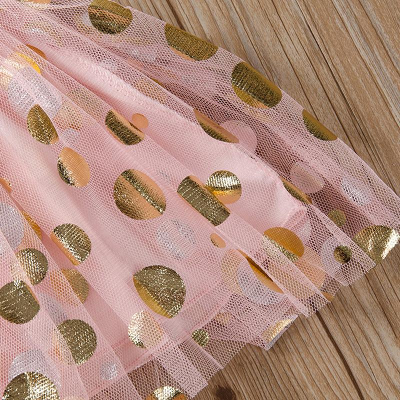 Wave Dot Gauze Dress for Toddler Girl