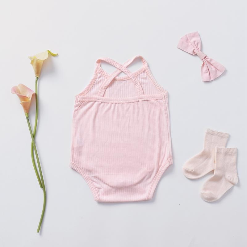 Solid Sleeve Bodysuit for Baby Girl