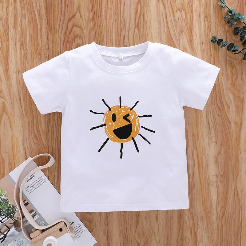 Toddler Boy Casual Sun Pattern T-shirt